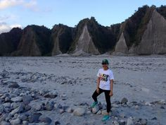 Toblerone mountain on the way to Mt. Pinatubo crater