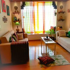 indian home decor Image may contain: people sitting, living room, table and indoor India Home Decor, Ethnic Home Decor, Indian Living Rooms, Colourful Living Room, Living Room Designs India, Home Decor Furniture, Home Decor Bedroom, Living Room Decor, Indian Room Decor