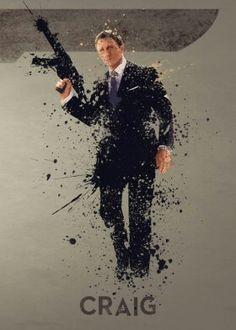 Bond James Bond poster prints by Matt Cooksey James Bond Actors, James Bond Movie Posters, James Bond Movies, Craig Bond, Daniel Craig James Bond, Craig 007, Tom Holland, 007 Casino Royale, Patriotic Posters