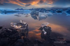 """Nonchalant - this is a shot from a midnight sun morning in jokulsarlon, multiple exposed into two frames 2 mins apart so I could take out some reflections on the midframe which was troubling my shot :D  <a href=""""https://iceland-photo-tours.com/""""> Photo Tours in Iceland</a>  Subscribe to our <a href=""""http://eepurl.com/QmJs5"""">Newsletter</a>"""