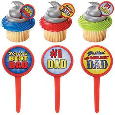 Best father cupcakes deco picks, best dad party picks, best father cake toppers party picks, dad cake toppers, happy fathers day celebration by on Etsy Cupcake Supplies, Party Supplies, Father's Day Celebration, Dad Cake, Food Picks, Good Good Father, Best Dad, Happy Fathers Day, Cool Websites