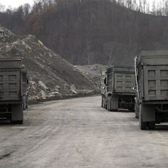 Coal trucks. Lol. Everyone who is not from WV calls these dump trucks. :)