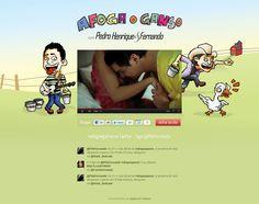 """Desenvolvimento de hotsite para divulgação do clipe """"Afoga o ganso"""", da dupla Pedro Henrique & Fernando."""