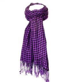 Purple Scarves are gorgeous, I especially love the look of this purple houndstooth style scarf, it has a kind of 80s vibe to it.