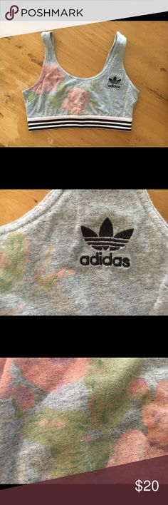 Adidas sport top Worn and washed once super cute adidas Intimates & Sleepwear Bras