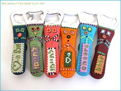 Polymer Clay Beer Bottle Openers by