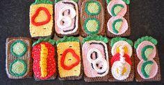 For efterhånden lang tid siden lavede jeg indkøbs stop, på krea ting sammen med min veninde. Dette i et forsøg på at få brugt godt op i lage... Crochet Cake, Crochet Food, Cute Crochet, Crochet For Kids, Play Shop, Diy Toys, Crochet Flowers, Crochet Patterns, Knitting
