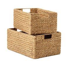 Water Hyacinth Bins - contemporary - baskets - The Container Store Old Wicker Chairs, Wicker Baskets, Wicker Man, Wicker Couch, Wicker Trunk, Wicker Headboard, Wicker Bedroom, Wicker Planter, Wicker Purse