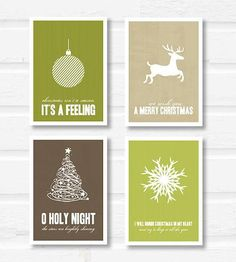Christmas Prints - Set of 4 | Gifts Cards  Stationery | Paperfinch | Scoutmob Shoppe | Product Detail