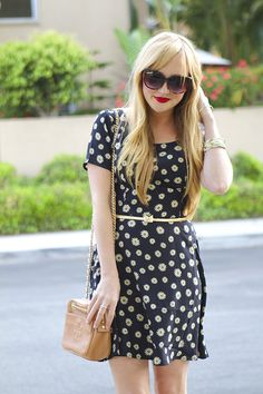Blogger of Champagne Lifestyle wearing our daisy dress. http://www.champagnelifestyleblog.com/2014/05/daisy-dress.html