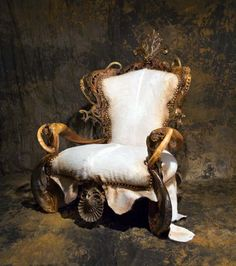 Original and unique furniture in exotic leather, horn. this one just gives me the willy's