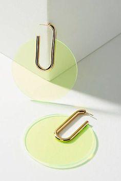 Berlin Lucite Hoop Earrings