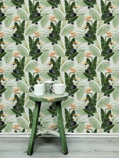 Mind The Gap Wallpaper Collection - Birds of Paradise | Rose & Grey
