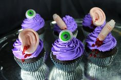 Halloween Cupcake Toppers Are Gruesomely Gory Gumpaste - Foodista.com