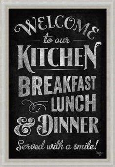 Cute, Playful and Popular Chalkboard Wall Art | Home Wall Art Decor | 1000 - Modern | 1000 Kitchen Canvas, Kitchen Prints, Kitchen Wall Art, Kitchen Blackboard, Kitchen Decor, Black Wall Decor, Home Decor Wall Art, Shabby Chic Homes, Shabby Chic Decor