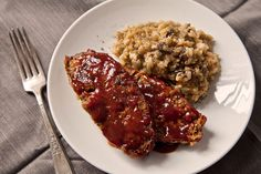 Homestyle Meatloaf w/ Ancho Chile-Red Pepper Glaze :: Wild Mushroom ...