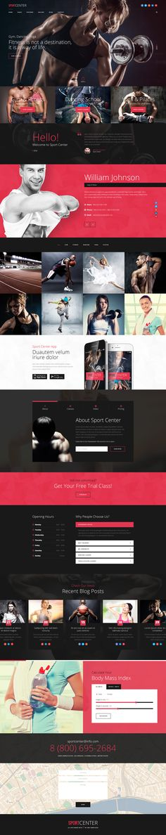 Sport Center - Gym, Yoga & Dance template | ThemeForest