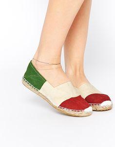 Image 1 ofOAS Italy Espadrille Slip On Flat Shoes