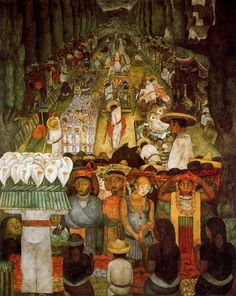 Good Friday on the Santa Anita Canal   1923-1924   Ministry of Education, Mexico City