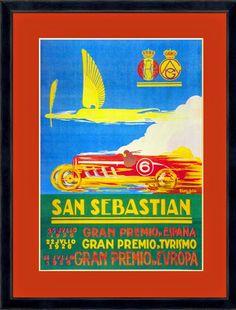 ÓVALO R&E: Cuadros con carteles vintage San Sebastian