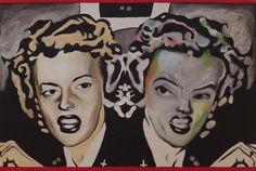 Marjorie Cameron seen by René Luckhardt Painting by René Luckhardt Portrait, Tattoos, Painting, Art, Tatuajes, Men Portrait, Painting Art, Tattoo, Paintings