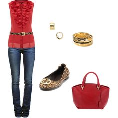 red and leopard, cute