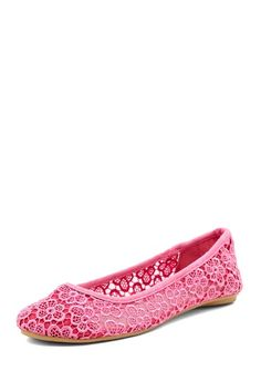 Charles Albert Lace Knit Flat by Flat Out Chic on @HauteLook
