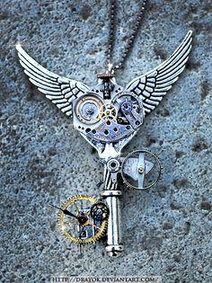 Steampunk Time-Travel Key