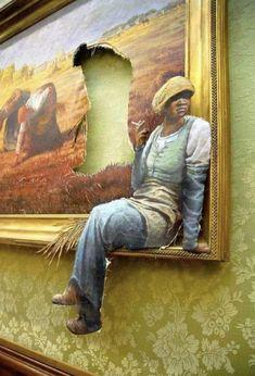The Agency Job, Banksy, Oil on Canvas, 2009 Art Works, Banksy, Photo Art, Sculpture Art, Painting, Art, Art Parody, Cool Art Projects, Art Studio Design