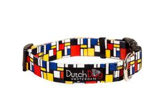 Mondrian inspired eco-friendly, non-toxic dog collar. $9.95 http://etsy.me/wWLlDg   Read more at www.dutch-dog.com or http://bit.ly/xzBAOY