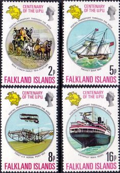 Falkland Islands 1974 U P U Set Fine Mint SG 300 3 Scott 231 4 Other South Pacific and British Commonwealth Stamps HERE!