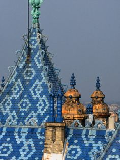 Zsolnay Tiles on the Roof of the Geological Institute of Budapest, Budapest…
