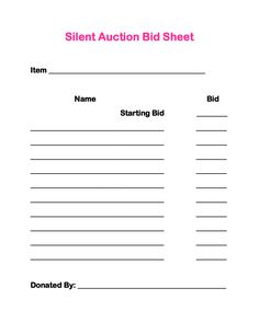 1000 images about adoption on pinterest gift for Silent auction catalog template
