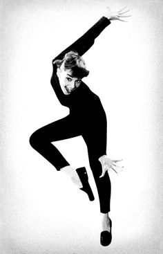 audrey hepburn in funny face-- love the movie and her modern dance number. How I miss modern!
