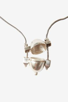 TOAST | Lingam pendant in solid silver with an antique finish, hand made in India. Silver snake chain.