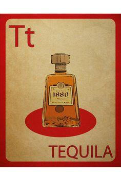 "teehee @Dana Curtis Hetzel - ""mynameisjz Tequila Flashcard Poster"""