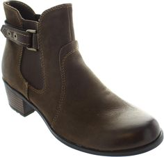 Earth Spirit El Reno Womens Stone Pull On Leather Chelsea Ankle Dealer Boots