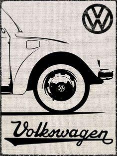 Volkswagen Beetle Rétro Voiture Logo Vinyle Horloge Murale VW Vintage Cadeau Decor