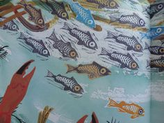 mark hearld - painted fish collage