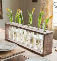 DIY rustic glass bottle & wood vase - spring home decor / Rusztikus hatású asztali dísz -váza kiürült üdítős üvegekből / Mindy - creative craft ideas