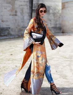obi and kimono inspiration, cream, orange, blue, black and chic