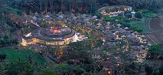 Amanjiwo - Central Java.  Overlooks Borobudur, the stunning 9th Century Buddhist Temple.