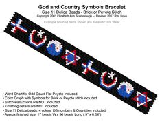 God and Country Symbols Bracelet | Bead-Patterns