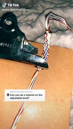 Diy Bracelets Patterns, Diy Bracelets Easy, Thread Bracelets, Embroidery Bracelets, Summer Bracelets, Bracelet Crafts, Bracelet Designs, Handmade Bracelets, Loom Bracelets