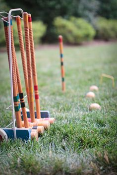 Classic lawn games for an outdoor party or wedding.