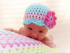 Crochet Baby Hats CROCHET BABY HAT Pattern - Oh so pretty - Crochet hat patter... Check more at http://www.newbornbabystuff.com/crochet-baby-hats-crochet-baby-hat-pattern-oh-so-pretty-crochet-hat-patter/