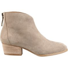 Nine West Jarrad Ankle Booties (70 AUD) ❤ liked on Polyvore featuring shoes, boots, ankle booties, botas, taupe suede, nine west boots, ankle boots, leather boots, taupe leather boots and nine west bootie