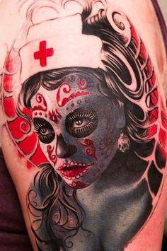 Day of the Dead #nurse #tattoo