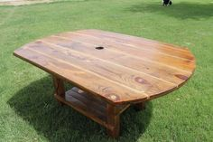 XL Cable Reel Turned Farmhouse Dining or Patio Table   @Laura Bridge we could so do this...