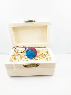 Amarantowy niebieski księżyc 2 Decorative Boxes, Decorative Storage Boxes